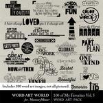 100 of My Favorites Vol 5 WordArt Pack-$5.99 (Word Art World)