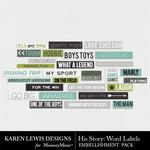 His Story Snippets Pack 3-$1.99 (Karen Lewis)