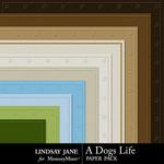 A Dogs Life Embossed Paper Pack-$1.99 (Lindsay Jane)