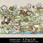 A Dogs Life Embellishment Pack-$3.49 (Lindsay Jane)