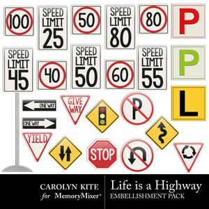 Crk lifeisahighway signage medium