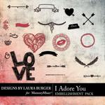 I Adore You Stamps Pack-$2.49 (Laura Burger)
