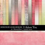 I Adore You Gradient Paper Pack-$3.49 (Laura Burger)