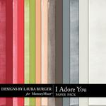 I Adore You Solid Paper Pack-$3.49 (Laura Burger)