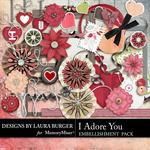 I Adore You Embellishment Pack-$2.49 (Laura Burger)