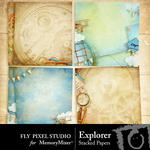 Explorer Stacked Paper Pack-$3.49 (Fly Pixel Studio)