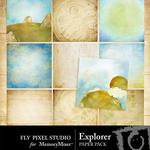 Explorer Paper Pack-$3.49 (Fly Pixel Studio)