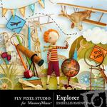 Explorer Embellishment Pack-$2.99 (Fly Pixel Studio)