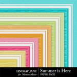 Summer is Here Embossed Paper Pack-$1.99 (Lindsay Jane)