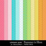 Summer is Here Pattern Paper Pack-$1.99 (Lindsay Jane)