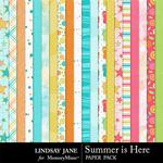 Summer is Here Paper Pack-$2.49 (Lindsay Jane)