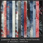 Family Fun and Fireworks Blended Paper Pack-$1.99 (Jumpstart Designs)