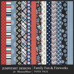 Family Fun and Fireworks Patterned Paper Pack-$1.99 (Jumpstart Designs)