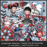 Family Fun and Fireworks Embellishment Pack-$5.99 (Jumpstart Designs)