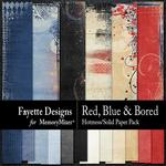 Red, Blue and Bored Hotmess Solid Paper Pack-$2.80 (Fayette Designs)