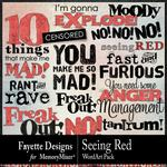 Seeing Red WordArt Pack-$2.10 (Fayette Designs)