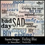 Feeling Blue WordArt Pack-$2.10 (Fayette Designs)