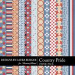 Country Pride Patterned Paper Pack-$3.49 (Laura Burger)