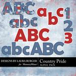 Country Pride Alphabet Pack-$2.49 (Laura Burger)