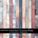 Country Pride Grunge Paper Pack-$3.49 (Laura Burger)