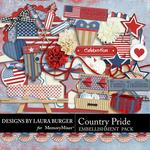 Country Pride Embellishment Pack 1-$1.75 (Laura Burger)