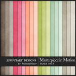 Masterpiece in Motion Plain Paper Pack-$2.10 (Jumpstart Designs)
