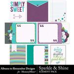 Sparkle and Shine Journal Cards-$2.49 (Albums to Remember)