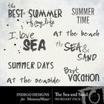 The Sea and Sand WordArt Pack-$1.99 (Indigo Designs)