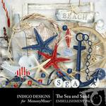 The Sea and Sand Embellishment Pack-$2.99 (Indigo Designs)