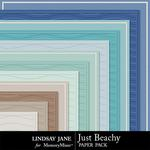Just Beachy Embossed Paper Pack-$1.99 (Lindsay Jane)