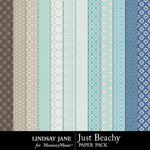 Just Beachy Pattern Paper Pack-$1.99 (Lindsay Jane)