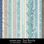 Just Beachy Paper Pack-$2.49 (Lindsay Jane)