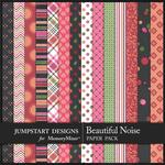 A Beautiful Noise Pattern Paper Pack-$2.40 (Jumpstart Designs)