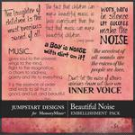 A Beautiful Noise WordArt Pack-$2.99 (Jumpstart Designs)
