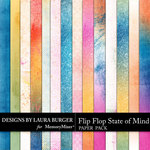 Flip Flop State of Mind Grunge Paper Pack-$3.49 (Laura Burger)