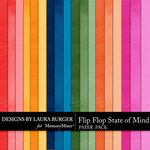 Flip Flop State of Mind Solid Paper Pack-$3.49 (Laura Burger)