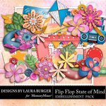 Flip Flop State of Mind Add On Emb Pack-$3.49 (Laura Burger)