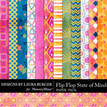 Flip Flop State of Mind Patterned Paper Pack-$3.49 (Laura Burger)