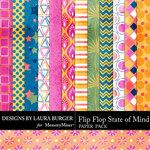 Flip Flop State of Mind Patterned Paper Pack-$3.49 (Laura Burger)