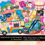 Flip Flop State of Mind Embellishment Pack-$3.49 (Laura Burger)