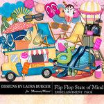 Flip Flop State of Mind Embellishment Pack-$2.10 (Laura Burger)