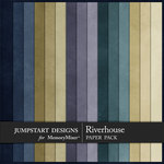 Riverhouse Plain Paper Pack-$2.99 (Jumpstart Designs)