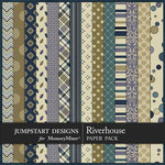 Riverhouse Patterned Paper Pack-$3.99 (Jumpstart Designs)
