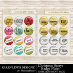 Christmas Story Badge Flair Pack-$1.00 (Karen Lewis)
