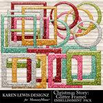 Christmas Story Glitter Frame Pack-$2.99 (Karen Lewis)
