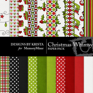 Christmas whimsey papers medium
