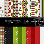 Christmas whimsey papers small