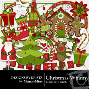 Christmas whimsy elements medium