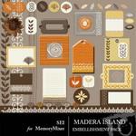Madera Island Embellishment Pack-$3.00 (s.e.i)