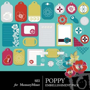 Poppy preview embellishments medium